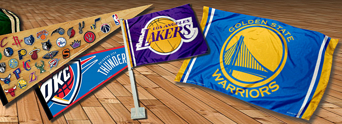 NBA Team Logo Flags