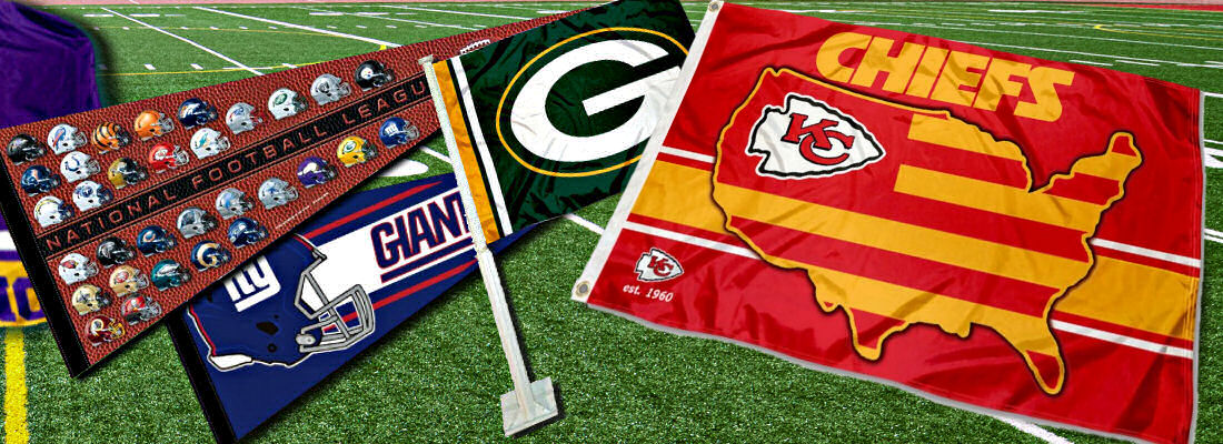 NFL Team Flags and NFL Team Banners
