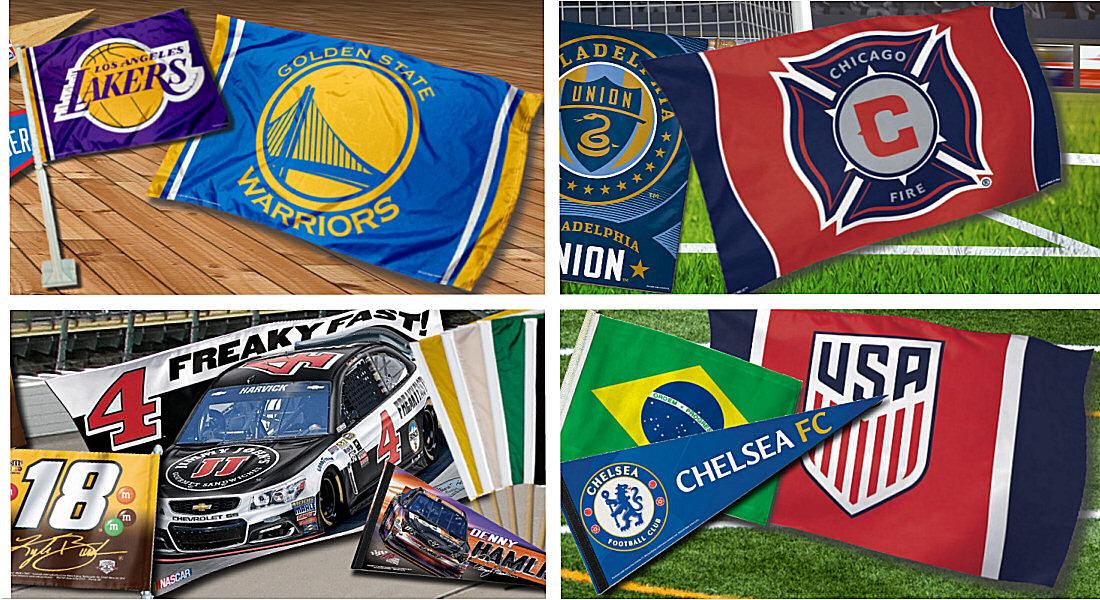 Sports Team Logo Flags