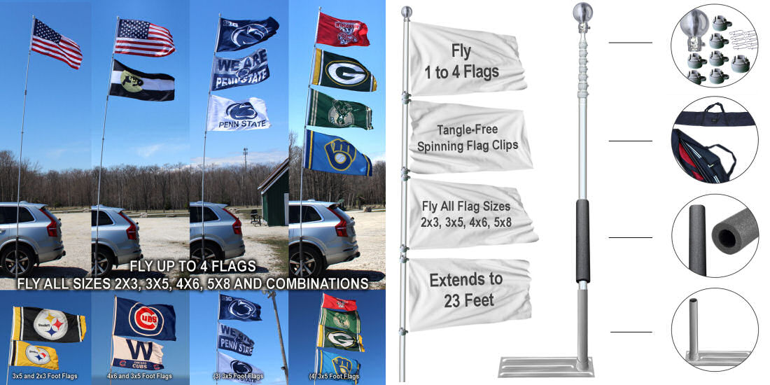 Shop for 16', 20', and 28' Tailgating Flag Poles