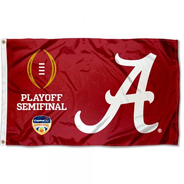 new product e8289 078a7 Alabama Crimson Tide 2018 College Football Playoff Semifinal Flag