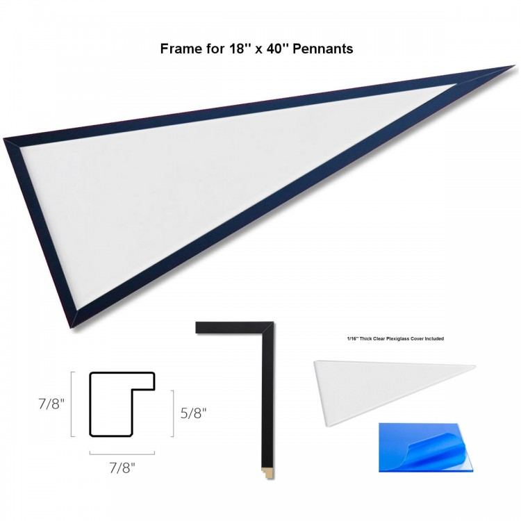Pennant Frame for Standard-Size Pennants, 12x30 Inch Banners, and ...