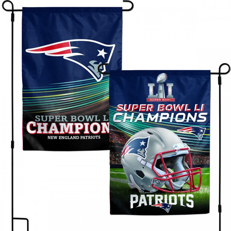 c9dc1fbec New England Patriots Super Bowl LI Champs Garden Flag and Double Sided  Garden Banners