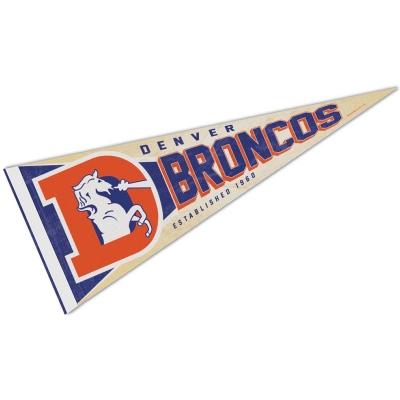 newest de928 26e32 Denver Broncos Retro Vintage Logo Pennant