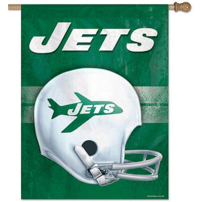 release date: 8e206 22fac NY Jets Throwback Helmet Flag and New York Jet Throwback Banner