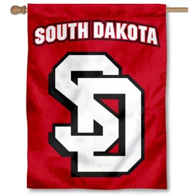 100% authentic b879a b577b South Dakota Coyotes Double Logo Flag your South Dakota ...