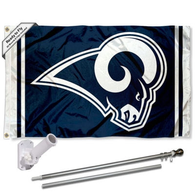 low cost 0f7ff 0474d Los Angeles Rams Flag Pole and Bracket Kit and Los Angeles ...