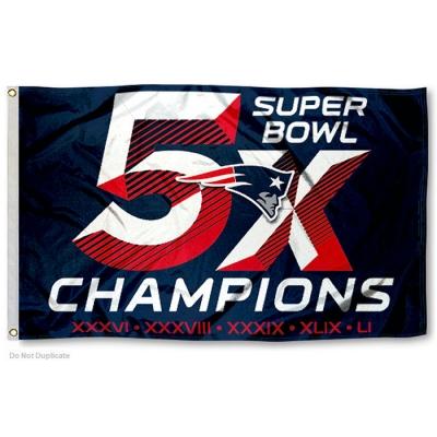 innovative design fb02f 1c768 New England Patriots 5X Super Bowl Champions Flag your NFL ...