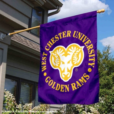 West Chester University Two Sided House Flag