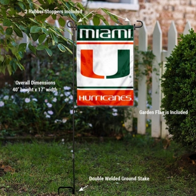 Miami Redhawks Garden Flag and Yard Stand Included