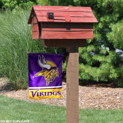 Minnesota Vikings Garden Flag And Double Sided Garden Banners