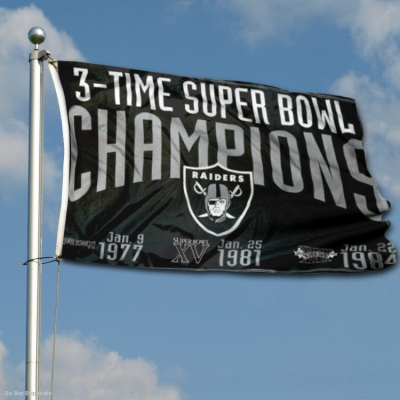 Las Vegas Raiders 3 Time Super Bowl Champions Flag Your Las Vegas Raiders 3 Time Super Bowl Champions Flags And Pennants Source